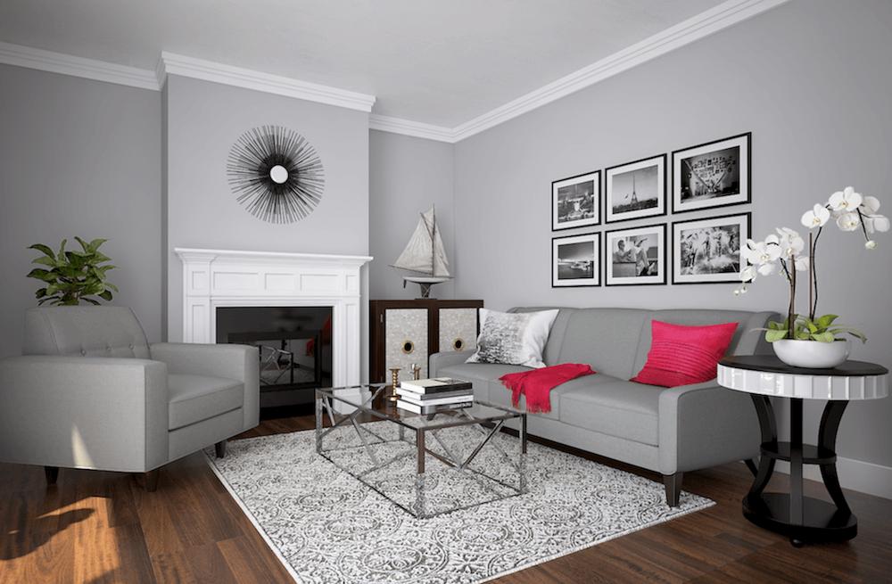 Glam Transitional Living Room