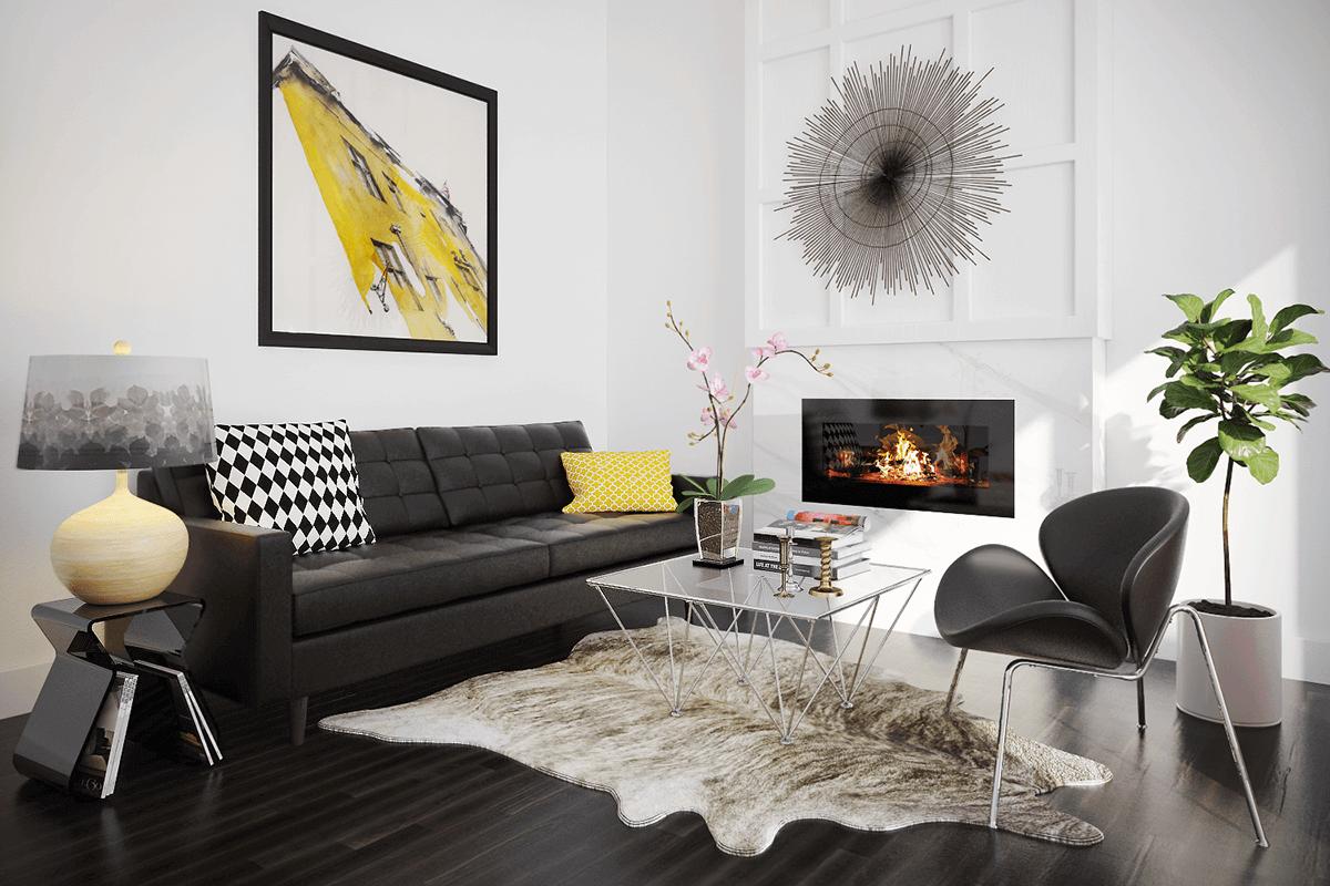 Bright Art Deco Living Room