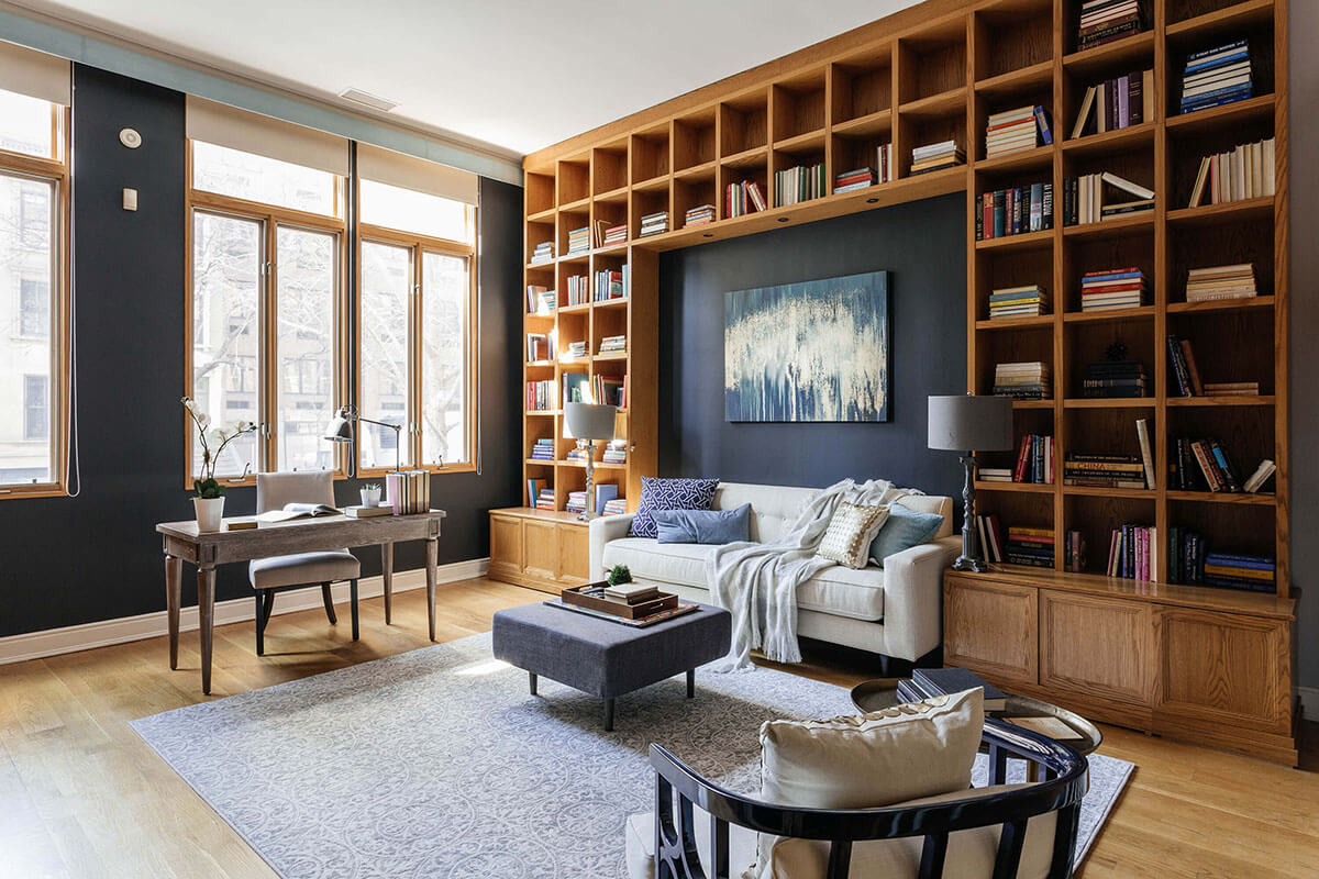 Library Home Office - New York Upper East Side